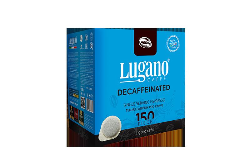 Lugano Kafeinsiz Espresso Pod paket 150 parça