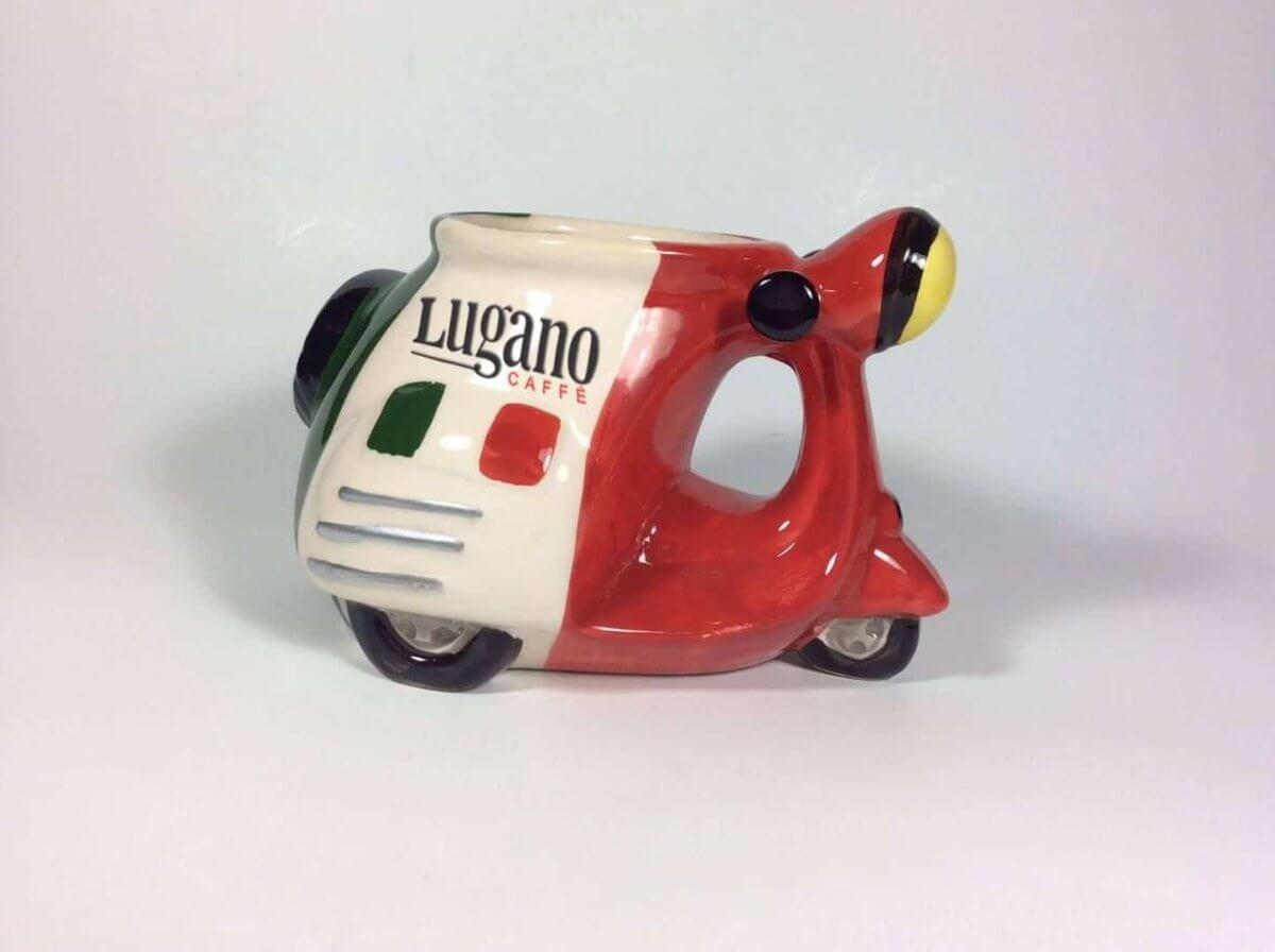 İtalya Skuter Biçimli Kahve Kupa 2