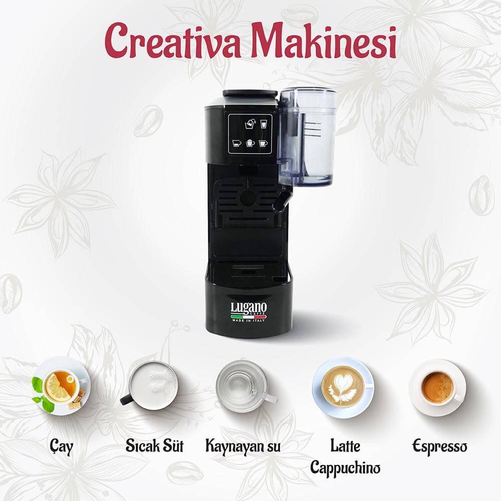 Lugano Caffé Creativa Kahve Makinesi