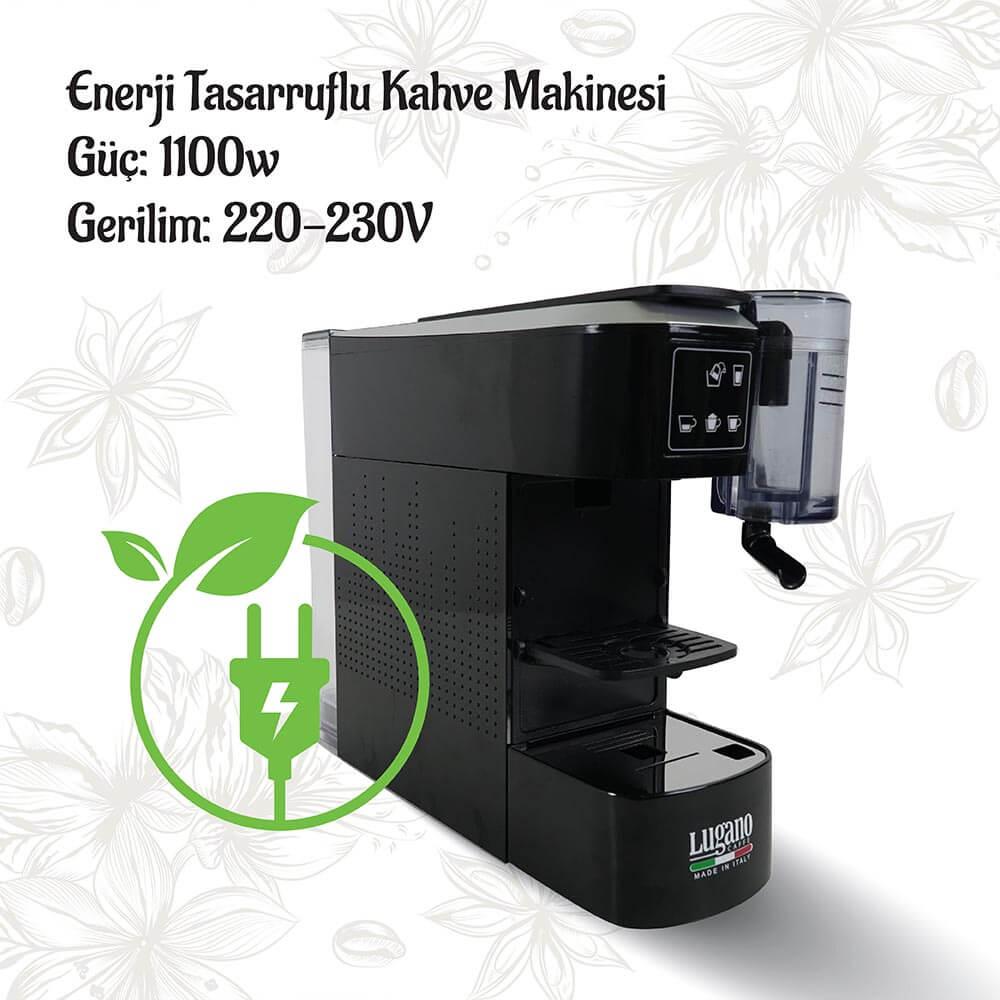 Lugano Caffé Creativa Kahve Makinesi - Enerji tasarruflu